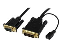 Best StarTech.com 3 ft DVI to VGA Active Converter Cable DVID to VGA Adapter video converter   black Stockists