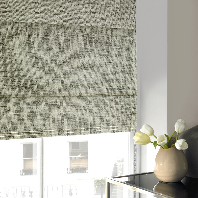 Stockists of Steel Franca Roman Blind