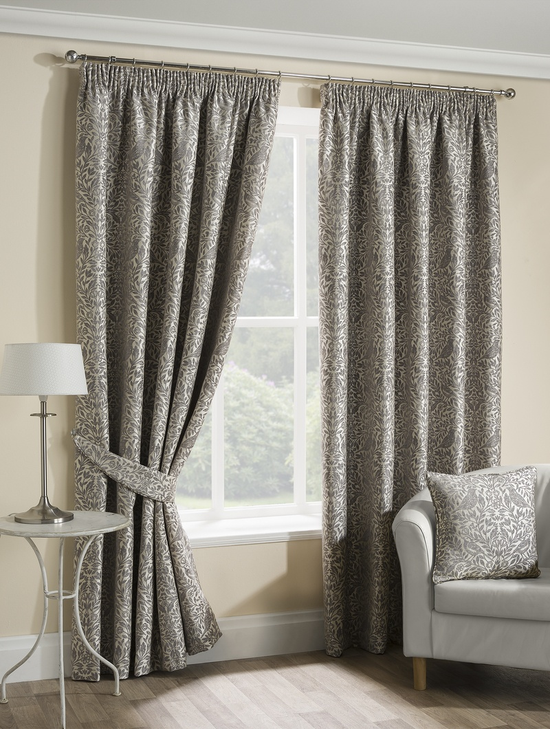 Stockists of Steeple Grey Eden Ready Made Lined Curtains