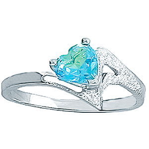 Bargain Sterling Silver 0.60ct Blue Topaz Heart Ring Stockists