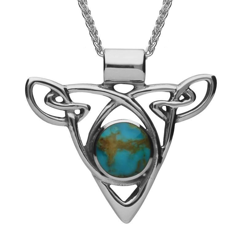 Bargain Sterling Silver Turquoise Triangle Knot Celtic Necklace Stockists