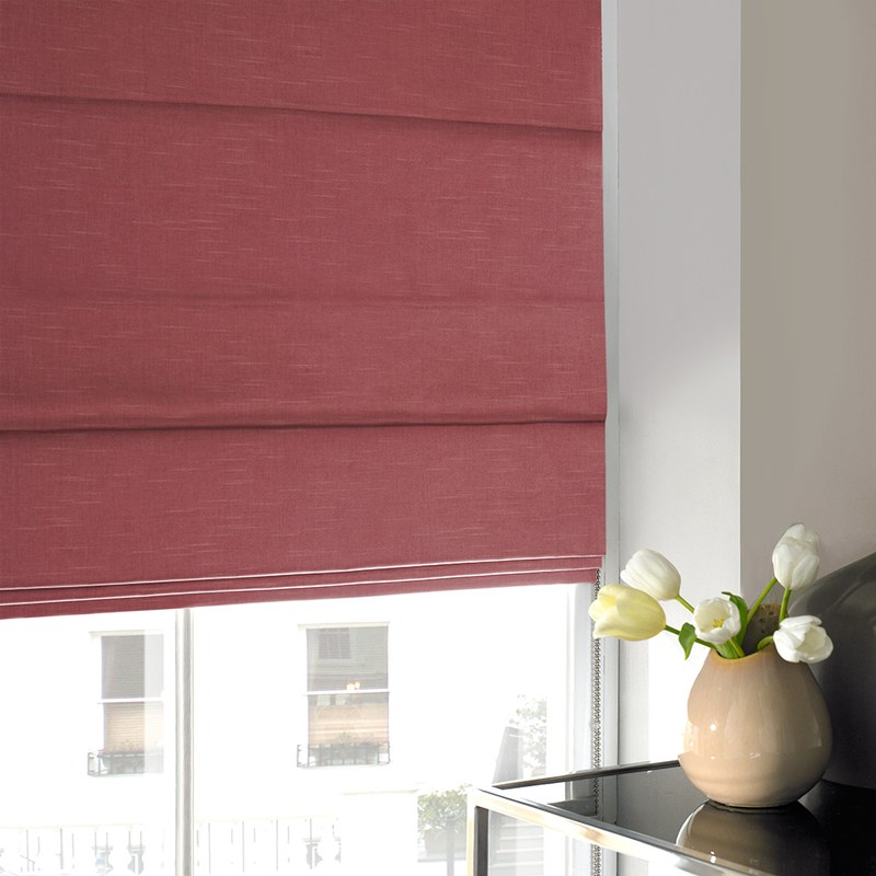 Stockists of Strawberry Verde Roman Blind