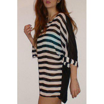 Best Stylish Striped Scoop Neck Bikini Cover For Women Stockists