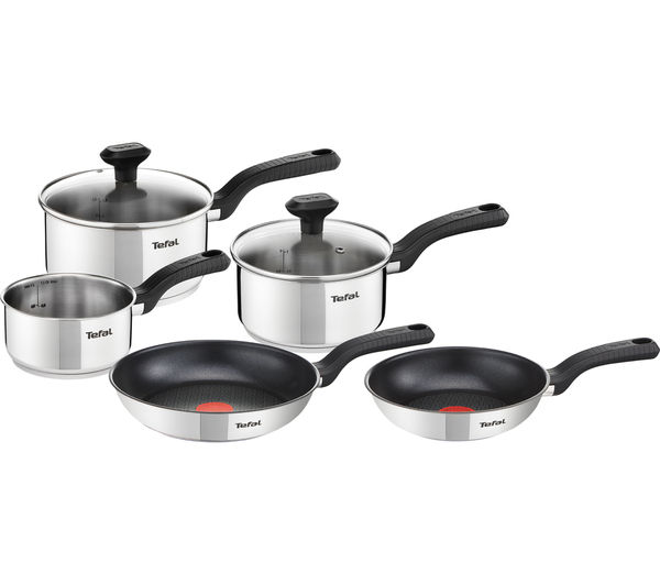 Bargain TEFAL Comfort Max C972S544 SS 5-piece Cookware Set - Stainless Steel Stockists