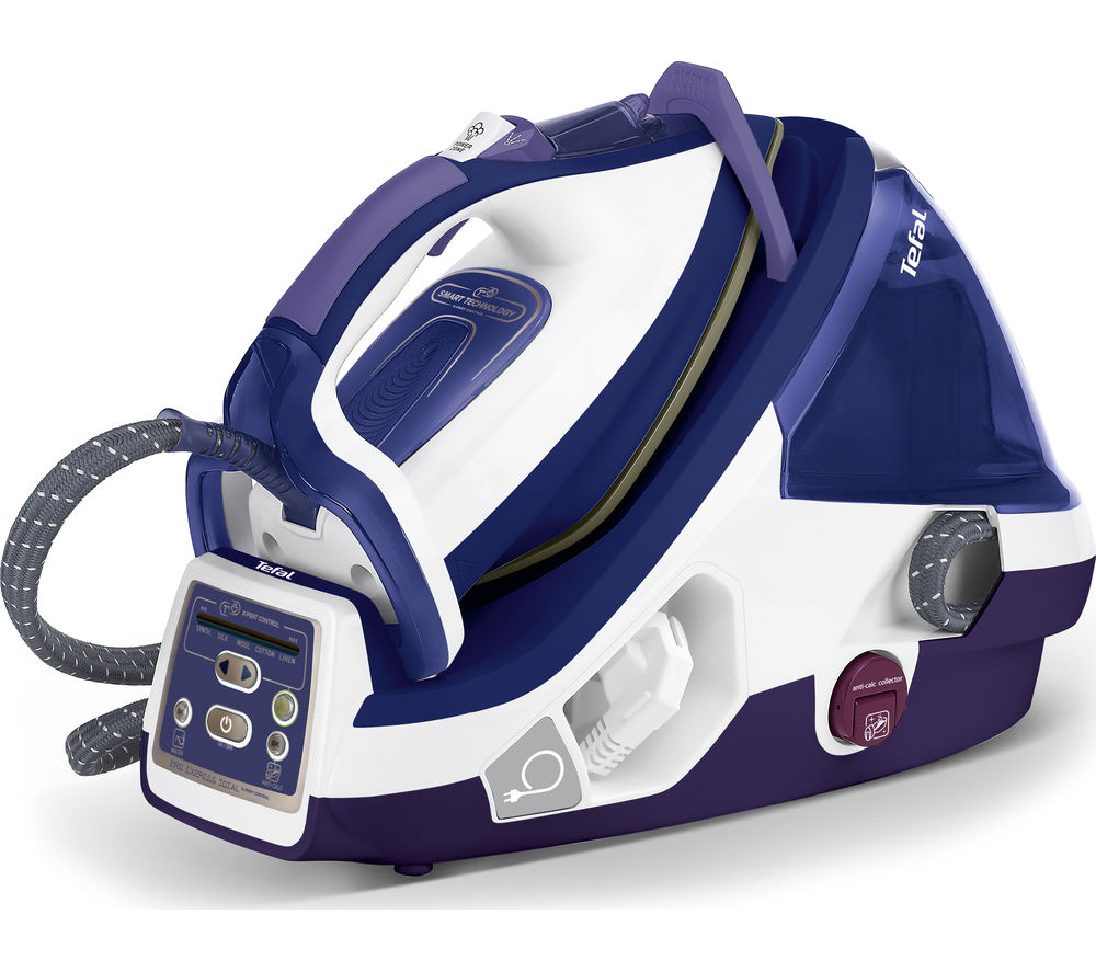 Bargain TEFAL Pro Express Total X-pert GV8976 Steam Generator Iron - Purple & White, Purple Stockists