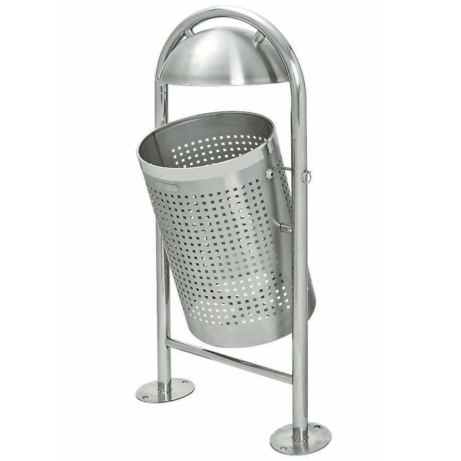 Bargain TRAFFIC LINE Stainless Steel Litter Bin   Dome Top Stockists