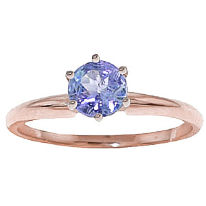 Bargain Tanzanite Crown Solitaire Ring 0.65ct in 9ct Rose Gold Stockists