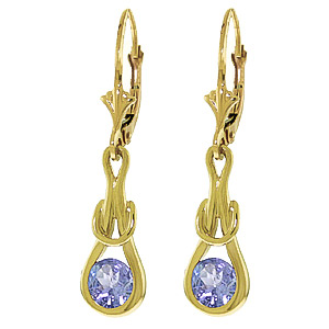 Bargain Tanzanite San Francisco Drop Earrings 1.3ctw in 9ct Gold Stockists