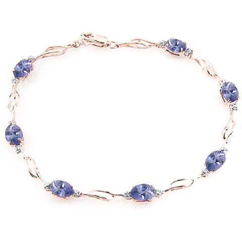 Bargain Tanzanite and Diamond Tennis Bracelet 3.0ctw in 9ct Rose Gold Stockists