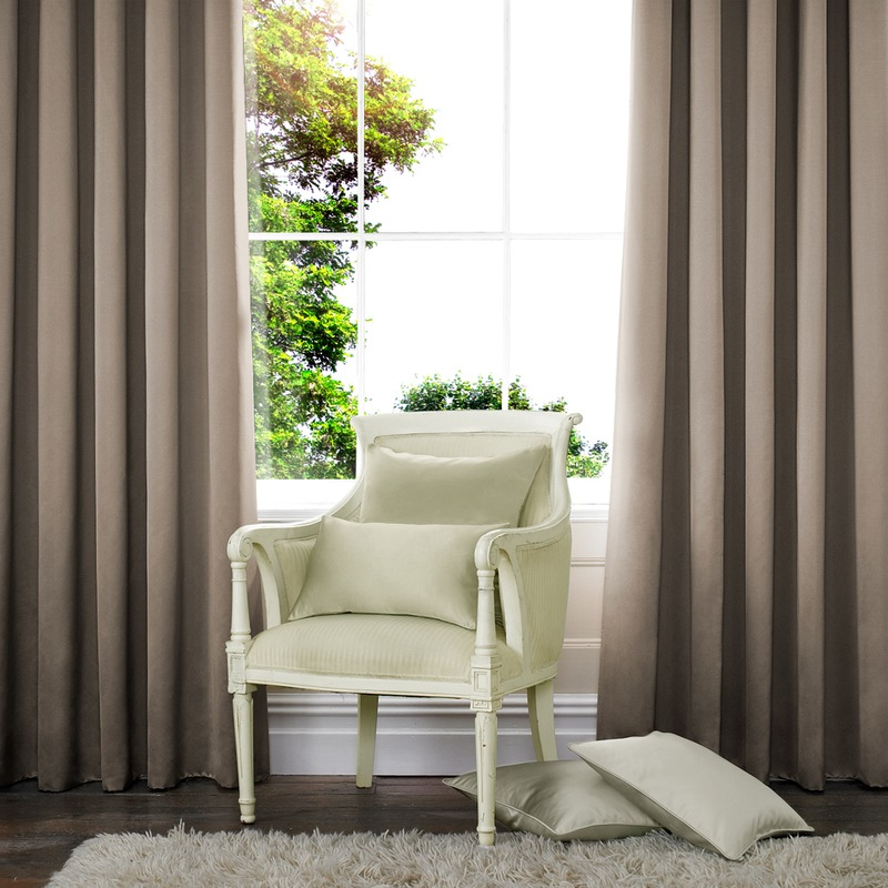 Stockists of Taupe Shine Made to Measure Curtains