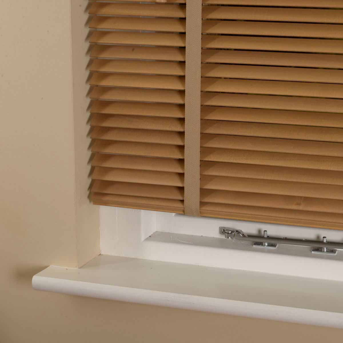 Stockists of Tawny 25mm Elementi Wood Venetian Blind With Tapes