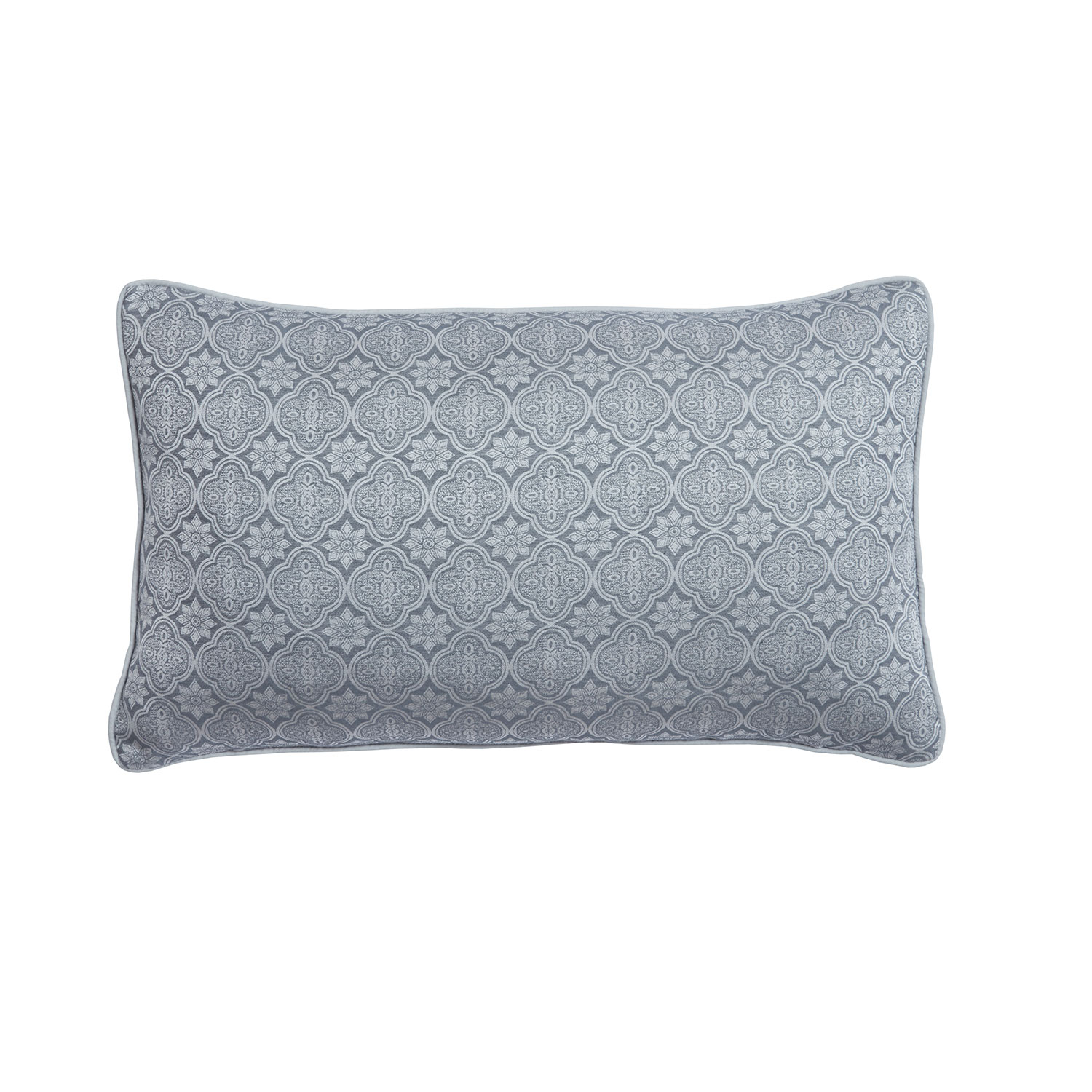 Bargain Taylor Silver Luxury Jacquard Filled Boudoir Cushion Stockists