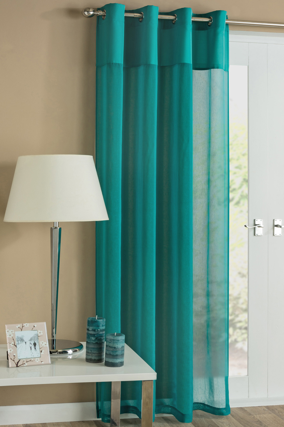 Stockists of Teal Rio Eyelet Voile Panel