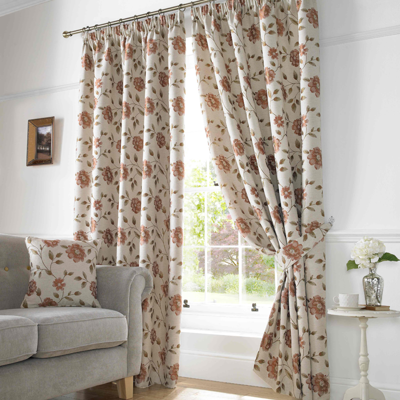 Stockists of Terracotta Hereford Ready Made Lined Curtains