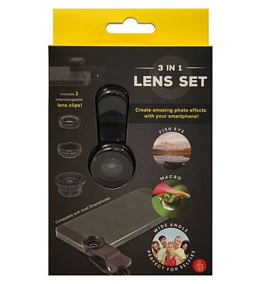 Bargain Thumbs Up 3-in-1 Lens Set For Smartphones Stockists