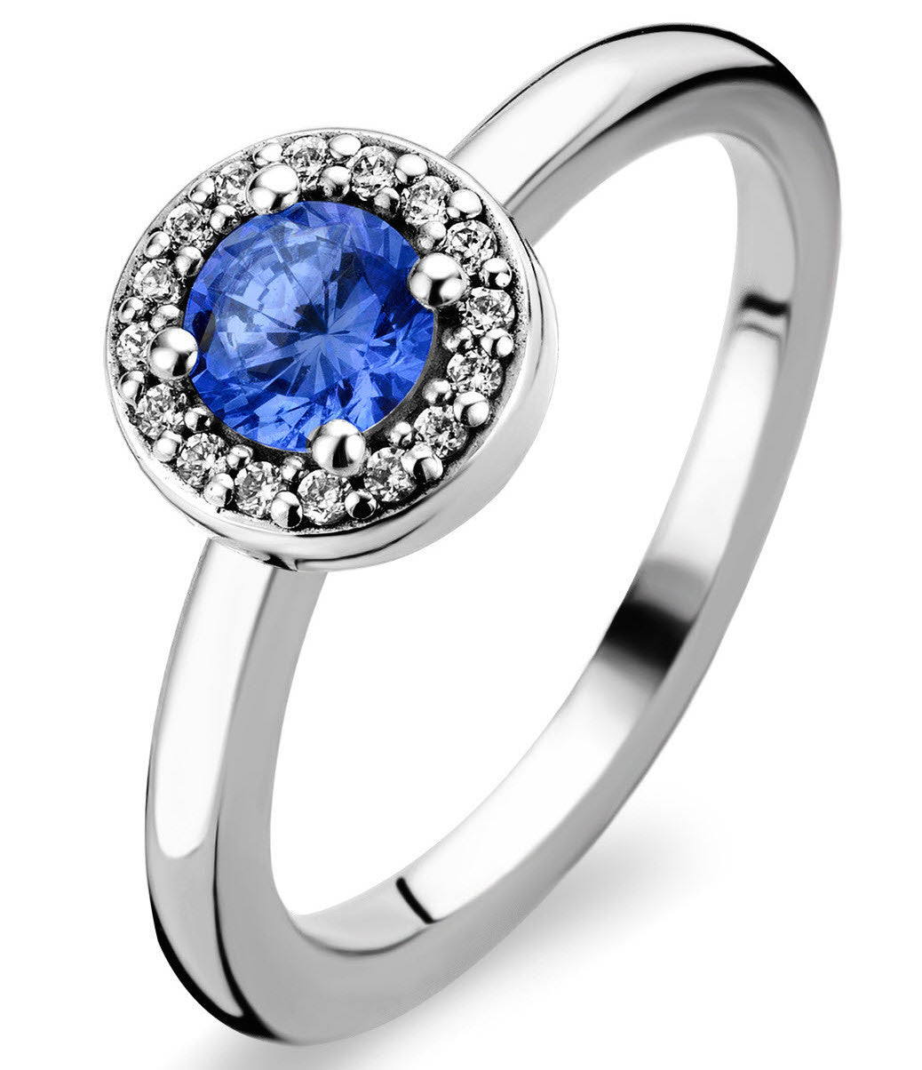 Bargain Ti Sento Ring Blue Crystal Rhodium Stockists