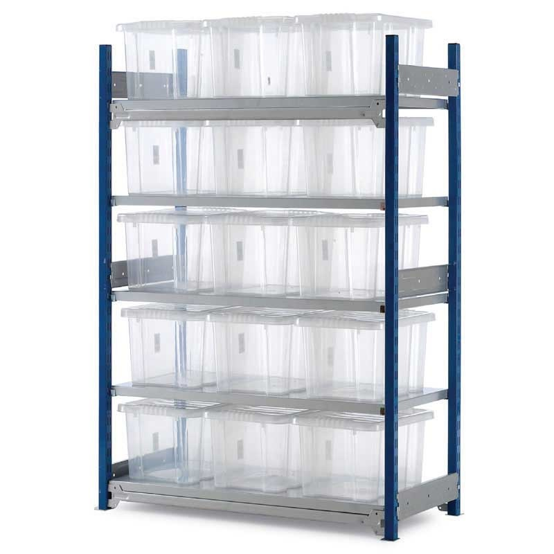 Bargain Toprax Shelving Starter Bay 15 boxes 1042w x 478d 1.5m h Stockists