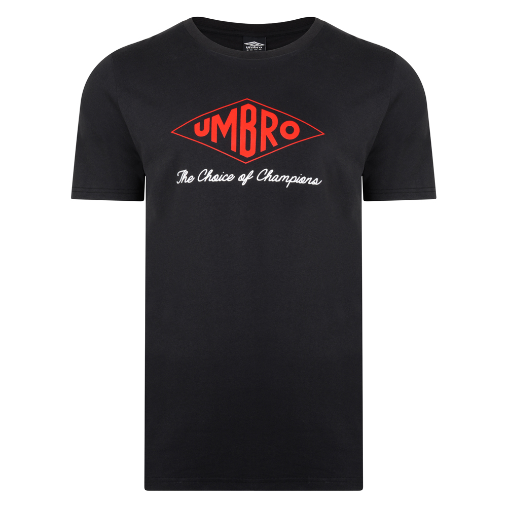 Bargain Umbro Choice of Champions Black Tee Stockists
