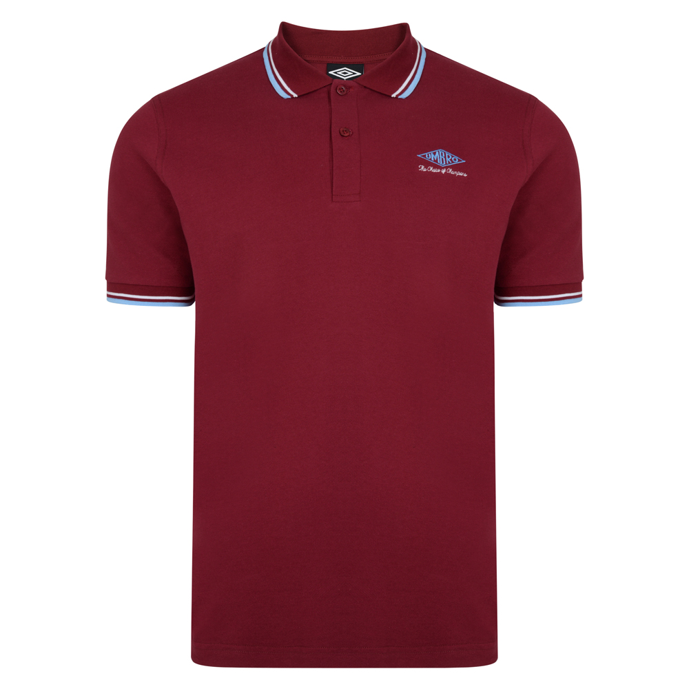 Best Umbro Choice of Champions Claret Polo Shirt Stockists