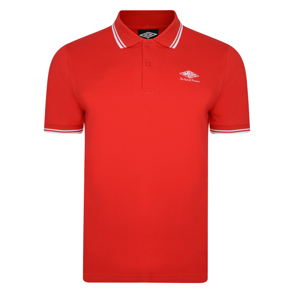 Best Umbro Choice of Champions Red Polo Shirt Stockists