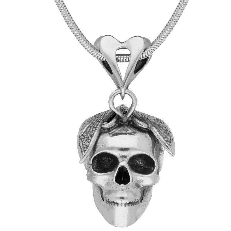 Bargain Unique Gothic Necklace Skull With Butterfly Silver Small Stockists