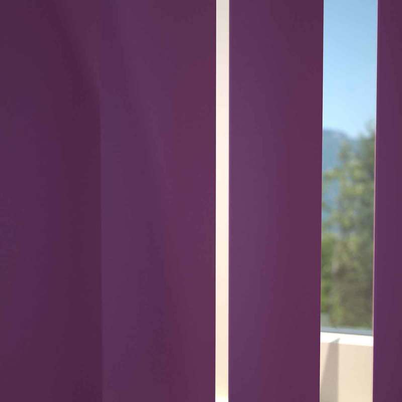 Stockists of Velvet Kensington Plain Vertical Blind
