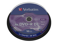 Best Verbatim   DVD+R DL x 10   8.5 GB   storage media Stockists