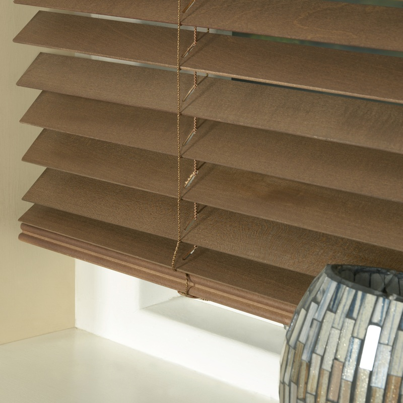 Stockists of Walnut 35mm Express Wood Slat Venetian Blind
