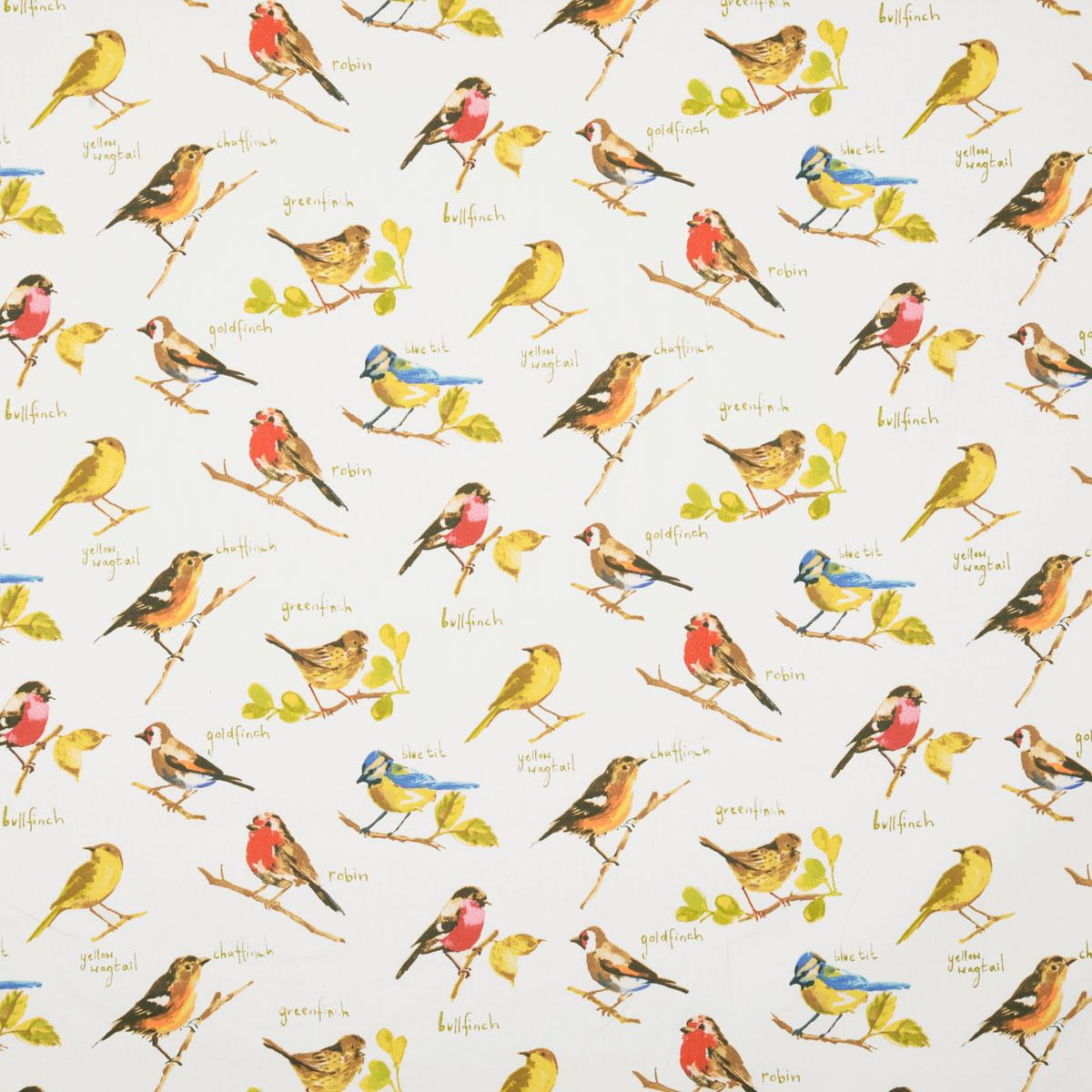 Stockists of Watercolour Garden Birds Curtain Fabric