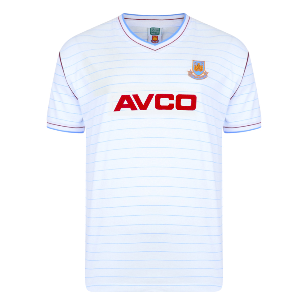 Stockists of West Ham United 1986 Away Retro Football Shirt