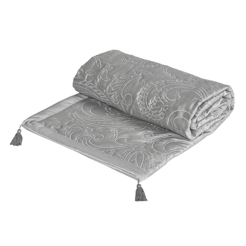 Bargain White Julian Charles Paisley Bed Throw Stockists