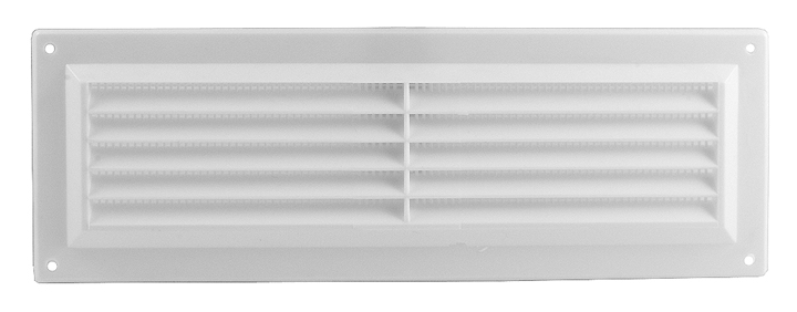 Stockists of White Plastic Slotted Vent 229x76mm