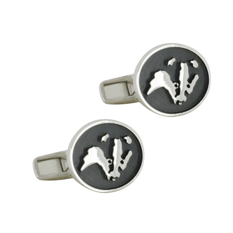 Bargain Wild Life Trust Collection Oval Cuff Links Badger Silver Stockists