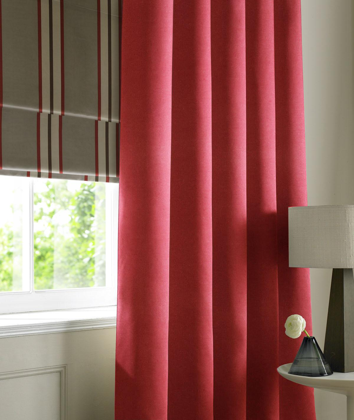 Stockists of Wine Panama Made to Measure Curtains