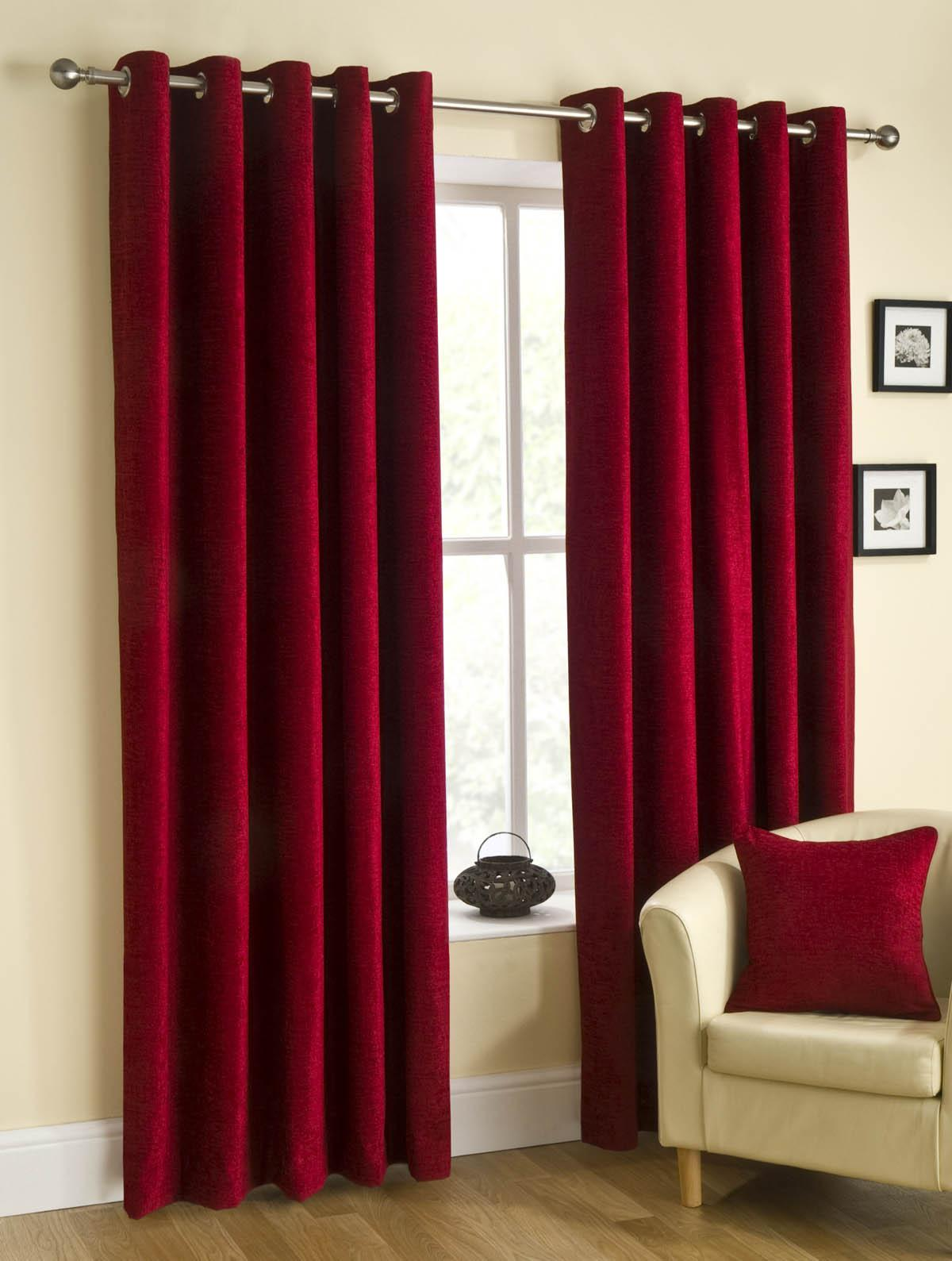 Stockists of Wine Puerto Ready Made Eyelet Curtains