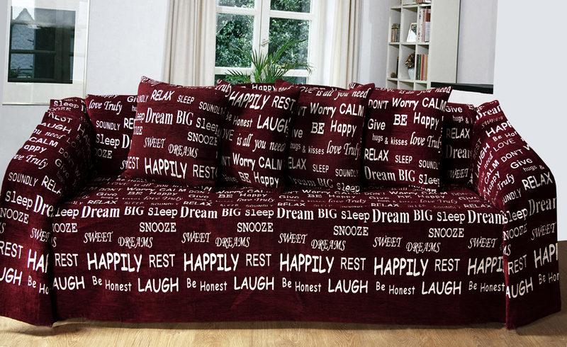 Stockists of Wine/Natural Script Throw