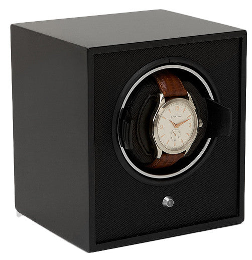 Bargain Wolf Lacquered Cubs Single Winder Black Stockists