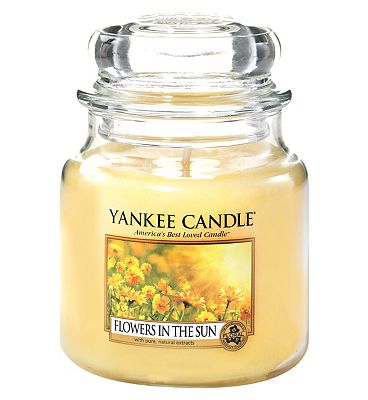 Bargain Yankee Candle Medium Jar Flowers In The Sun Stockists