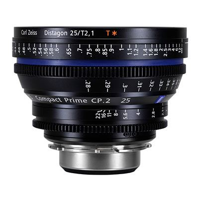 Bargain Zeiss 25mm T2.1 CP.2 Cine Prime T* Lens - PL Mount (Feet) Stockists