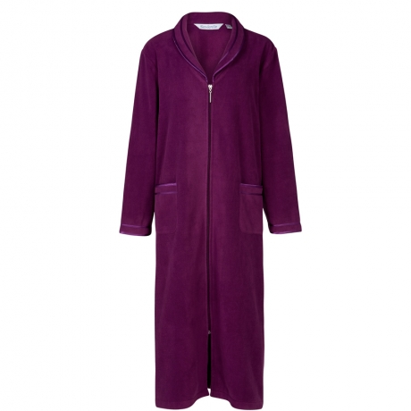 Bargain Zip Front Fleecy Housecoat Stockists
