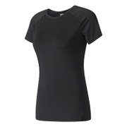 Bargain adidas Women's Speed T-Shirt - Black - S Stockists